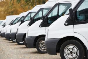 fleet of commercial vehicles