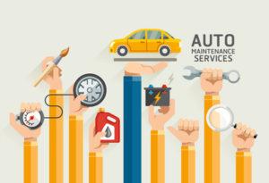 auto fleet maintenance illustrations